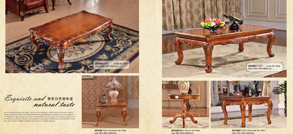 Special European style furniture dining table set hand make chairs