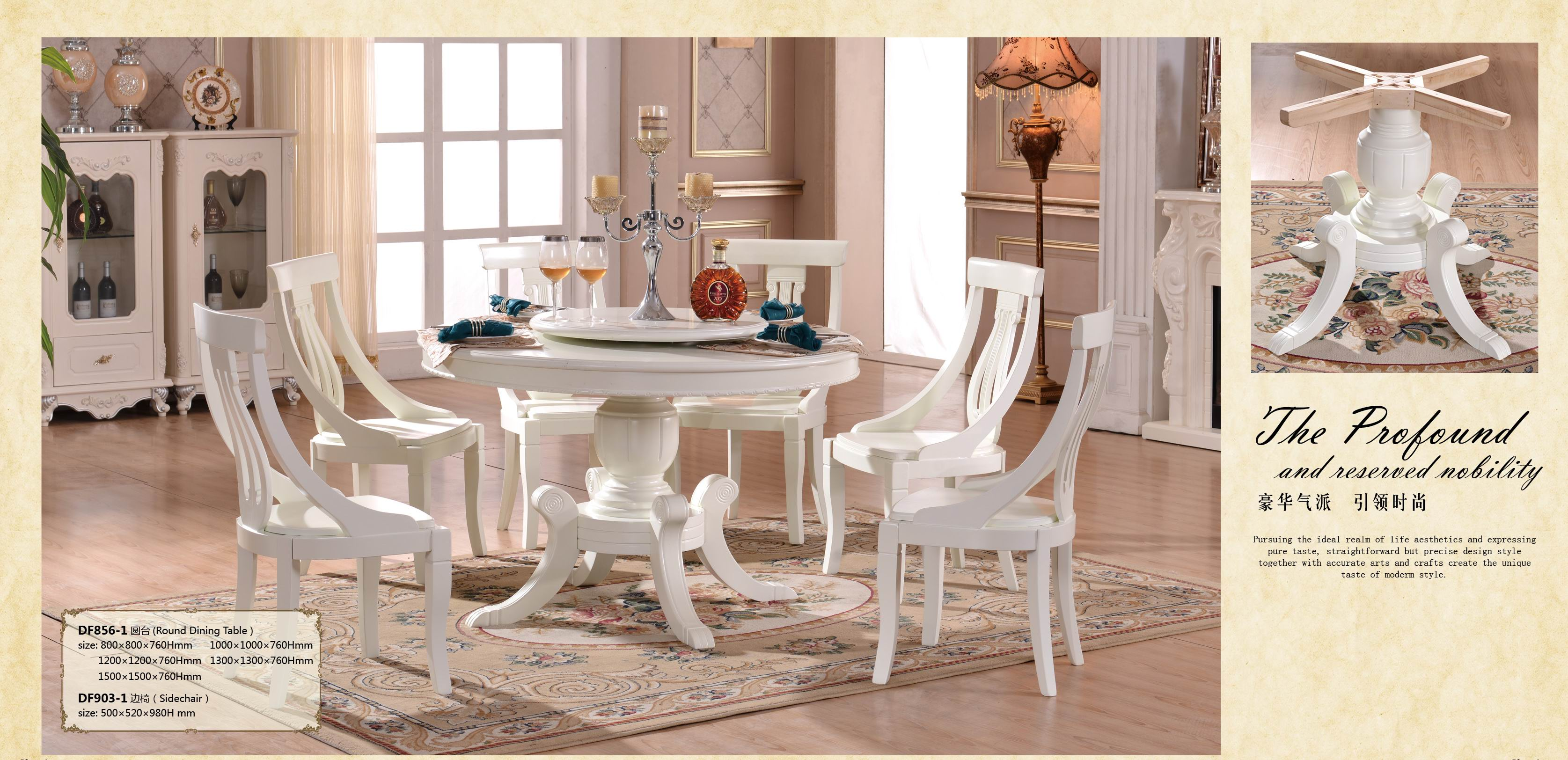 Modern round dining table 856 white color.jpg