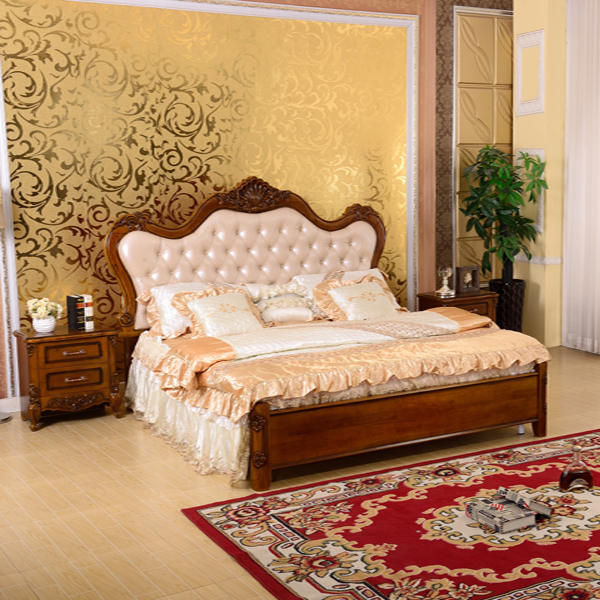 902 solid wood upscale leather bed.jpg