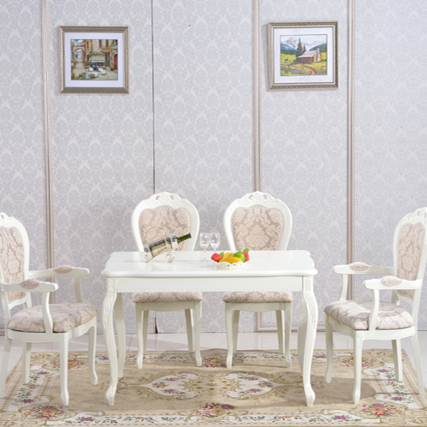 Italian white wedding dining table and chair set