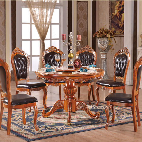 round dining table wood furniture