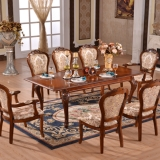 european style luxury extended dining table set