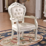 wood wedding white armchair