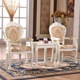 wood design dining chair tea table set